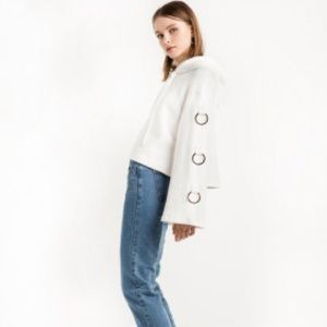 Pixie Market white ring hoodie sweatshirt